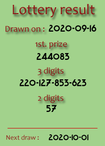 Live Lottery Thai Results 01 November 2015 (361211) Result